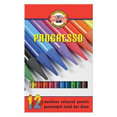 Bezdrzewne kredki rysunkowe Progresso, Koh-i-Noor, 12 kolorów