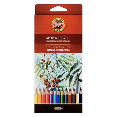 Kredki akwarelowe Mondeluz, Koh-i-Noor, 12 kolorów