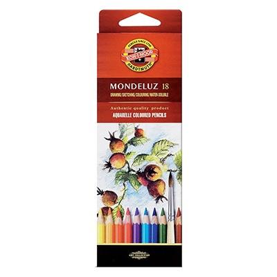 Kredki akwarelowe Mondeluz, Koh-i-Noor, 18 kolorów