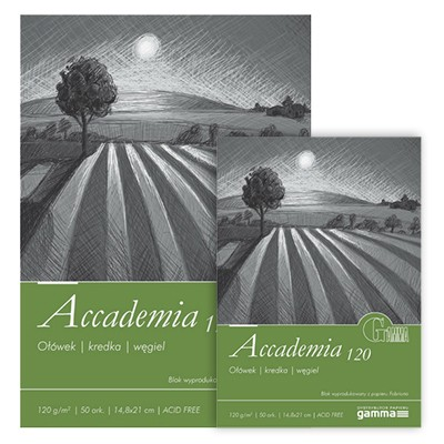 Blok Fabriano Accademia 120g, A4 50ark.