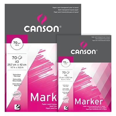 Canson Marker Layout, blok do pisaków i markerów A4, 70 ark. 70g