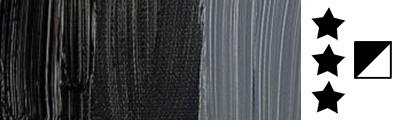 701 S1 Ivory Black, farba olejna Rembrandt 40 ml