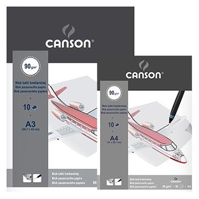 Blok kalki kreślarskiej A3 Canson, 10 arkuszy, 90g