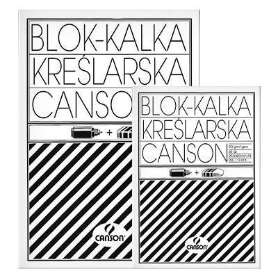 Blok kalki kreślarskiej A4, Canson, 30 arkuszy, 90g