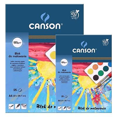Szkolny blok do rysunku i farb wodnych Canson, 25 kartek A4