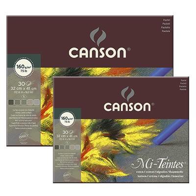 Blok Mi-Teintes - odcienie szarości, Canson, 32x41cm, 30 ark. 16