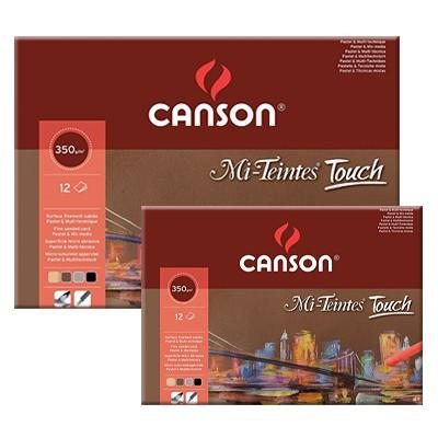 Blok Mi-Teintes Touch, Canson, 24x32cm, 12 ark. 355g