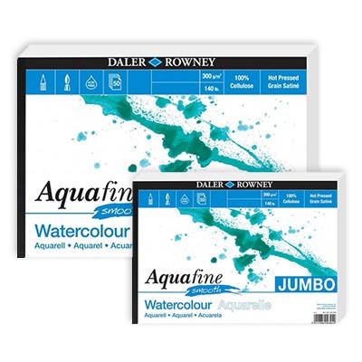 Aquafine Smooth JUMBO, blok akwarelowy Daler Rowney A3, 50 ark.