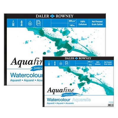Aquafine Smooth, blok akwarelowy Daler Rowney A3, 12 ark. 300g
