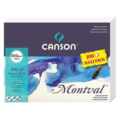 Montval, blok akwarelowy Canson, 24 x 32cm, 100 ark. 200g