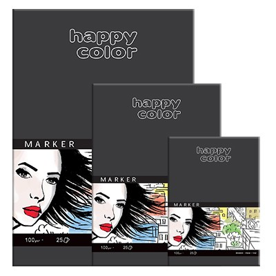 Blok do markerów Happy Color A3, 100g, 25 ark.