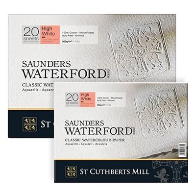 Waterford HP H/W, Saunders, blok akwarelowy 23x31cm, 20ark, 300g