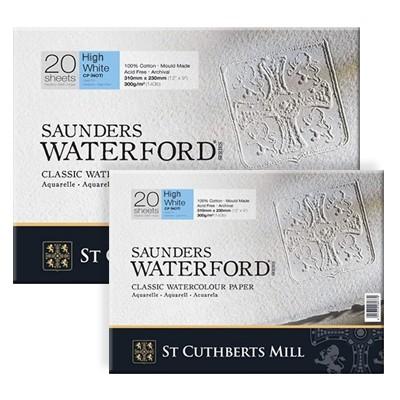 Waterford CP H/W, Saunders, blok akwarelowy 23x31cm, 20ark, 300g