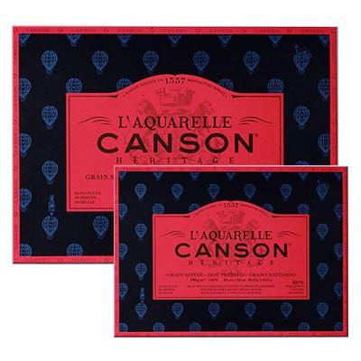 Satynowy blok do akwareli Canson Heritage, 26x36cm, 20ark