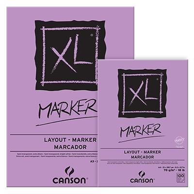 Canson Marker XL, blok do pisaków i markerów A4, 100 ark. 70g