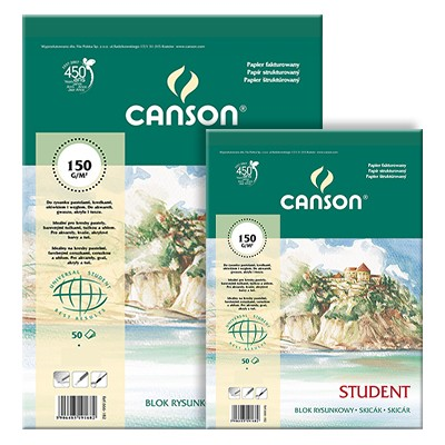 Blok rysunkowy Canson Student, 30 ark. A2, 150g