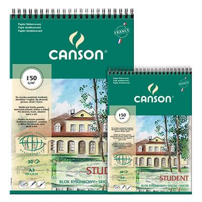 Blok rysunkowy na spirali Canson Student