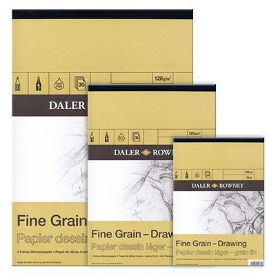 Blok rysunkowy Daler Rowney - Fine Grain, 30 kartek A4, 120g