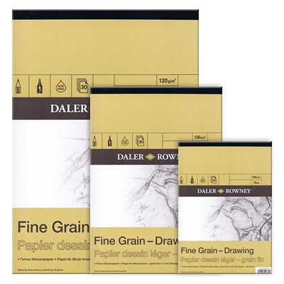Blok rysunkowy Daler Rowney - Fine Grain, 30 kartek A3, 120g