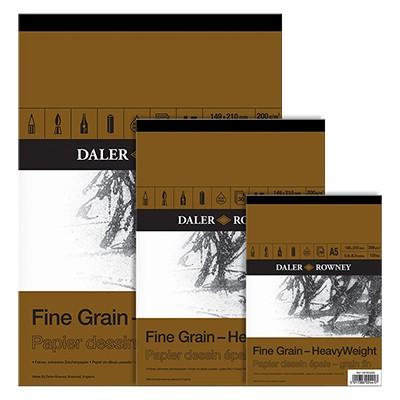 Blok rysunkowy Daler Rowney - Fine Grain, 30 kartek A2, 200g