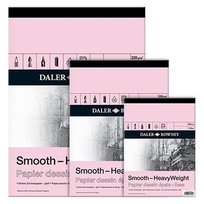 Blok rysunkowy Daler Rowney - Smooth, 25 kartek A4, 220g