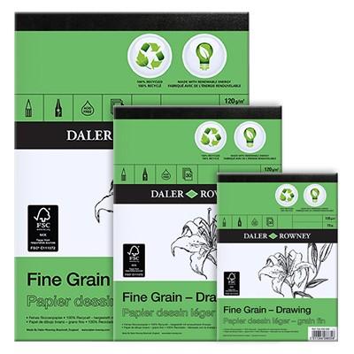Blok rysunkowy Daler Rowney - ECO Fine Grain, 30 kartek A4, 120g