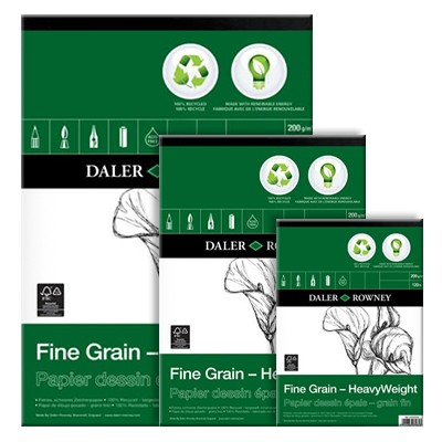 Blok rysunkowy Daler Rowney - ECO Fine Grain, 30 kartek A4, 200g