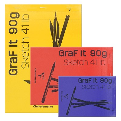 Szkicownik GRAF IT Clairefontaine A6 (10,5 x 14,8cm) 80ark. 90g