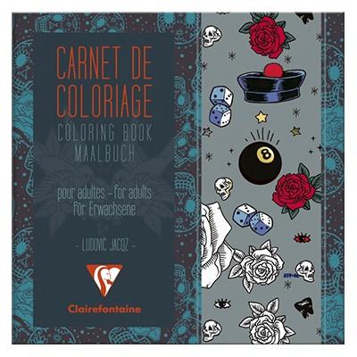 Tattoo, kolorowanki dla dorosłych, Clairefontaine 20x20cm