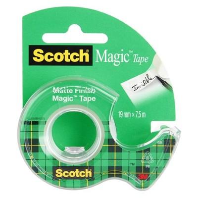Taśma samoprzylepna Magic z podajnikiem, Scotch, 19mm x 7,5m