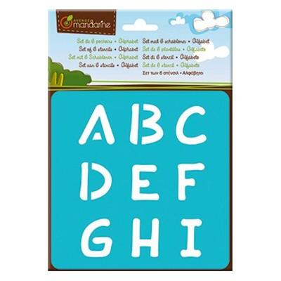 alfabet zestaw szablonow