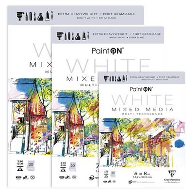 Paint ON White, blok 15,2 x 20,3 cm, 20 ark.