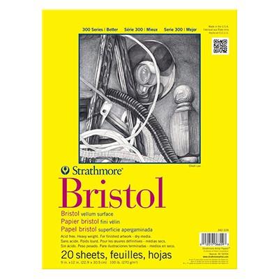 Blok Bristol vellum, Strathmore, 22,9 x 30,5 cm