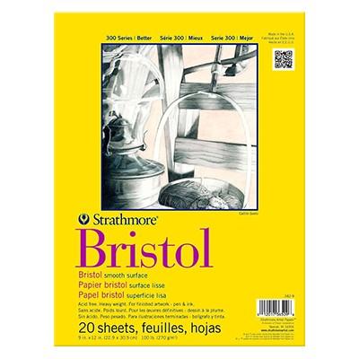 Blok Bristol smooth, Strathmore, 22,9 x 30,5 cm