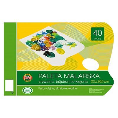 Paleta malarska papierowa