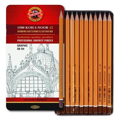 Ołówki do rysunku graficznego