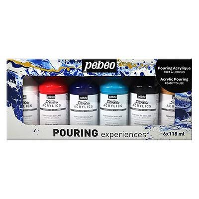 zestaw farb do pouringu Pebeo