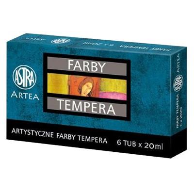 Farby temperowe Artea Astra, zestaw 6 kolorów