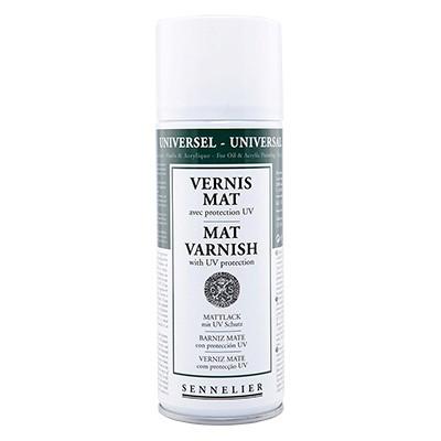 Werniks matowy do farb olenych, Sennelier, spray 400ml