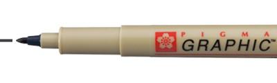 1 Black, pisak Pigma Graphic, Sakura, końcówka 1mm (okrągła)