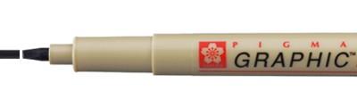 2 Black, pisak Pigma Graphic, Sakura, końcówka 2mm (płaska)