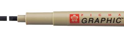 3 Black, pisak Pigma Graphic, Sakura, końcówka 3mm (płaska)