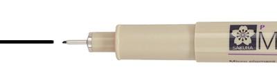 02 Black, pisak precyzyjny Pigma Micron, Sakura, 0.30mm