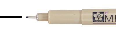 05 Black, pisak precyzyjny Pigma Micron, Sakura, 0.45mm