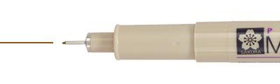 005 Sepia, pisak precyzyjny Pigma Micron, Sakura, 0.2mm