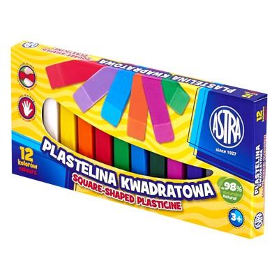 Plastelina kwadrat Astra 12 kolorów
