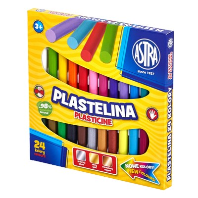 Plastelina, Astra, zestaw 24 kolory