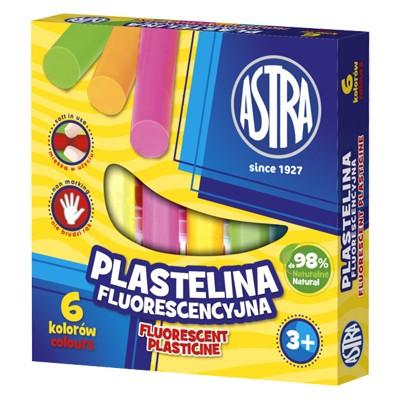 Plastelina fluorescencyjna, Astra, zestaw 6 kolorów