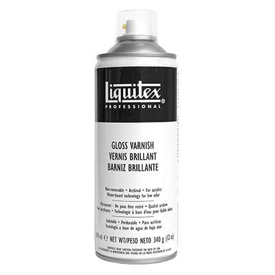 Werniks błyszczący do farb akrylowych Liquitex, spray 400 ml