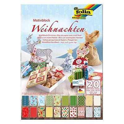 Święta - blok z motywami dekoracyjnymi 24 x 34cm, 20 ark.